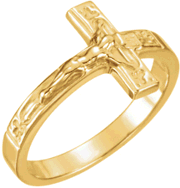 Crucifix Ring R-16613 Gents