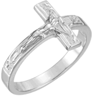 Crucifix Ring R-16613 Ladies