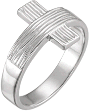 Chastity Ring, R-16614 Gents The Rugged Cross comes in Yellow Gold, White Gold and Sterling Silver
