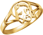 Chastity Ring, R-16615 Ladies comes in Yellow Gold, White Gold and Sterling Silver