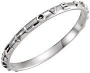 Chastity Ring, R-16616 Ladies True Love comes in Yellow Gold, White Gold and Sterling Silver