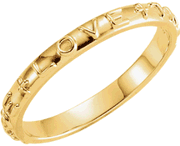 Chastity Ring, R-16617 Gents or Ladies True Love comes in Yellow Gold, White Gold and Sterling Silver