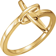 Chastity Ring  / Purity Ring, R-16684 Ladies comes in Yellow Gold and White Gold