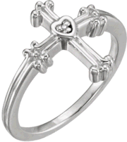 Chastity Ring R-16685D with .005 Diamond