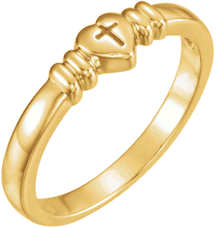 Chastity Ring  / Purity Ring, R-7027 Ladies comes in Yellow Gold, White Gold and Sterling Silver