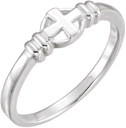 Chastity Ring  / Purity Ring, R-7028 Ladies  comes in Yellow Gold, White Gold and Sterling Silver