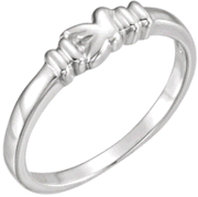 Chastity Ring, R-7034 Ladies Dove Ring comes in Yellow Gold, White Gold and Sterling Silver