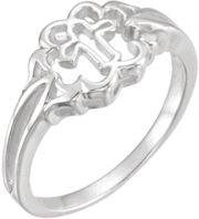 Chastity Ring  / Purity Ring, R-7035 Ladies comes in Yellow Gold, White Gold and Sterling Silver